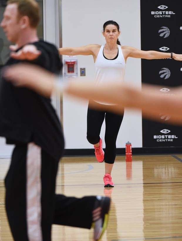 Globe and Mail sports reporter Rachel Brady undergoes a pro circuit workout at the BioSteel centre on Oct. 4, 2016.