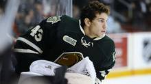 Anthony Stolarz of the London Knights. (Aaron Bell/OHL Images)