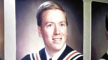 The official graduation photo of Jeff Delisle -- a naval officer arrested and charged with espionage -- who finished Sackville High School in suburban Halifax in 1990 (Oliver Moore/ The Globe and Mail/Oliver Moore/ The Globe and Mail)