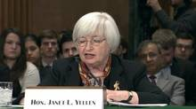 In delayed testimony before the Senate Banking Committee, Fed Chair Janet Yellen says policymakers still expect modest economic growth but are keeping watch of emerging markets and the impact of weather. No reporter narration. (Reuters)