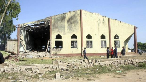 A view shows St. Rita's Catholic church in the Malali village, after a bomb attack, in Nigeria's northern city of Kaduna October 28, 2012. (REUTERS)