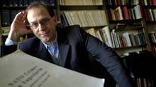Michael Mandel, York University professor, is leading an international attempt to charge NATO with war crimes over the Kosovo War. (Patti Gower/the Globe and Mail)
