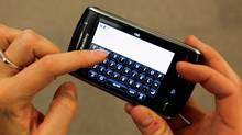 A Research In Motion BlackBerry Storm (LUCAS JACKSON/LUCAS JACKSON/REUTERS)
