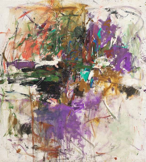 Untitled, by Joan Mitchell. Oil on canvas, 228.9 × 206.1 cm.