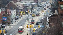 St. Clair Ave. between Bathurst and Dufferin in Toronto, as seen Feb. 9, 2012. The debate about above-ground transit and it's affect on the community rages on at city hall. (Kevin Van Paassen/The Globe and Mail/Kevin Van Paassen/The Globe and Mail)
