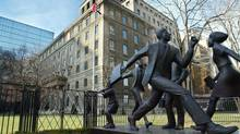 Manulife Financial Corp. has acquired three office buildings, including its first in New York City. (KEVIN FRAYER/Canadian Press)