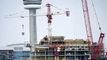 Condo construction in the Liberty Villiage area in Toronto. (Kevin Van Paassen/The Globe and Mail)