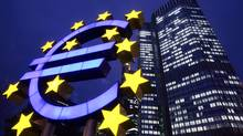 European Central Bank headquarters in Frankfurt (MICHAEL PROBST/AP)