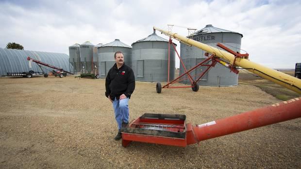 Malting barley farmer Doug Herman, seen at his farm near Drumheller, Alta., is part of a co-op of Alberta farmers under bulk contract to Lagunitas Brewing Co.