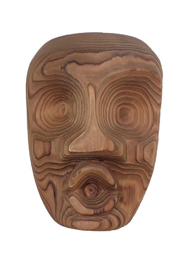 First Nations artists Ellen Neel and Susan Pointe are being celebrated for their accomplishments for women in indigenous art at separate exhibitions in British Columbia. This is Ellen Neel's Dzonaqua Mask, made in 1962 from carved red cedar.