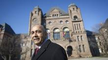 Harinder Takhar, who is running for the leadership of the Ontario Liberal party is photographed at Queen's Park in Toronto, Ont. Wednesday, January 16, 2013. (Kevin Van Paassen/The Globe and Mail)
