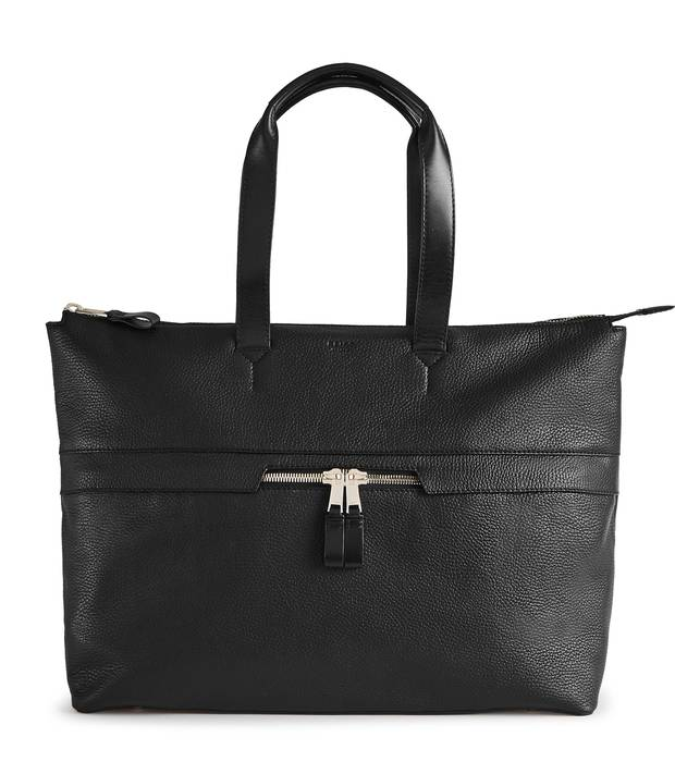 Newman zip leather tote bag, $490 at Reiss (reiss.com).