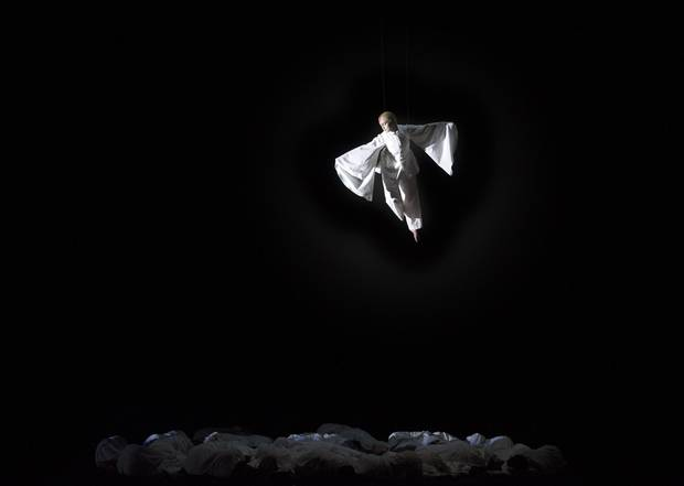 Jacqueline Woodley as the Forest Bird performs in the Canadian Opera Company's production of Siegfried.