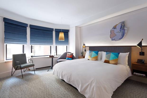 The rooms at the James New York's new NoMad location are spacious and as well-appointed as one would expect from a hospitality group that made its name in SoHo with a retro-modern aesthetic.