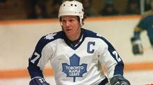 A Jan.7, 1982 file photo of Toronto Maple Leafs captain Darryl Sittler. (The Canadian Press)