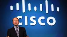 Cisco Chairman and CEO John Chambers delivers a keynote address during the RSA Conference April 22, 2009 in San Francisco, California. The Annual RSA conference features keynote speakers and seminars on the topic of cyber security runs through April 24. (Justin Sullivan/Getty Images)