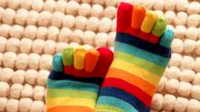 Opening a Pinterest account is a jarring experience if your tastes do not line up with its natural inclinations. At present, its natural inclinations are twee. Despite my professed interest in design and architecture, my screen filled up with pictures of rainbow socks (and rainbow-sock-type items). (socktheory.com via Pinterest.com)