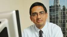 Hedge fund manager Nandu Narayanan of Trident Investment Management LLC at his New York City office. Photo by Monika Graff
