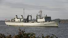 Naval re-supply ship HMCS Protecteur is one of the many ships to be replaced in the shipbuilding program. THE CANADIAN PRESS/ Deddeda Stemler (Deddeda Stemler/The Canadian Press)