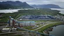 The Ridley bulk-handing facility for coal on Ridley Island in Prince Rupert. (JOHN LEHMANN/JOHN LEHMANN/THE GLOBE AND MAIL)