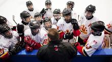The number of boys registering for hockey has fallen two years in a row, dipping to 427,000 in 2011-12. (Della Rollins For The Globe and Mail)