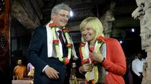 Prime Minister Stephen Harper and wife Laureen visit Sri Someshwara Swamy Temple in Bangalore, India on Thursday, November 8, 2012. (Sean Kilpatrick/CP)