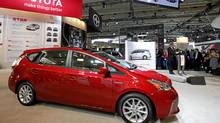 Stephen Beatty, managing director of Toyota Canada, introduced the 2012 Toyota Prius V as it makes its Canadian debut at the Canadian International Auto Show in Toronto. (Deborah Baic/The Globe and Mail)