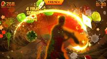 A screenshot from Fruit Ninja Kinect. (Halfbrick)