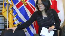 B.C. NDP MLA Jenny Kwan arrives for a November 2009 news conference in Vancouver. (Darryl Dyck/The Canadian Press)