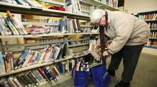 Bridgewater, N.S., residents have checked out 6,000 books and will return them to a new library when it opens in January. (Paul Darrow for The Globe and Mail)