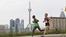 Running along the Toronto waterfront