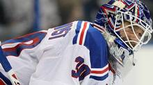 Goaltender Henrik Lundqvist and the New York Rangers face the Toronto Maple Leafs on Monday night. Kim Klement-US PRESSWIRE (Kim Klement/US PRESSWIRE)