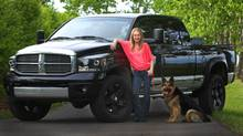 Amber Marshall drives a 2006 Dodge Ram because she prefers 'a Mega Cab for my dogs.' (Shawn Turner)