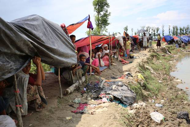 Families who have fled to Bangladesh fear they won't have homes to go back to: Scores of their villages have been destroyed by fire, satellite footage from Human Rights Watch shows.