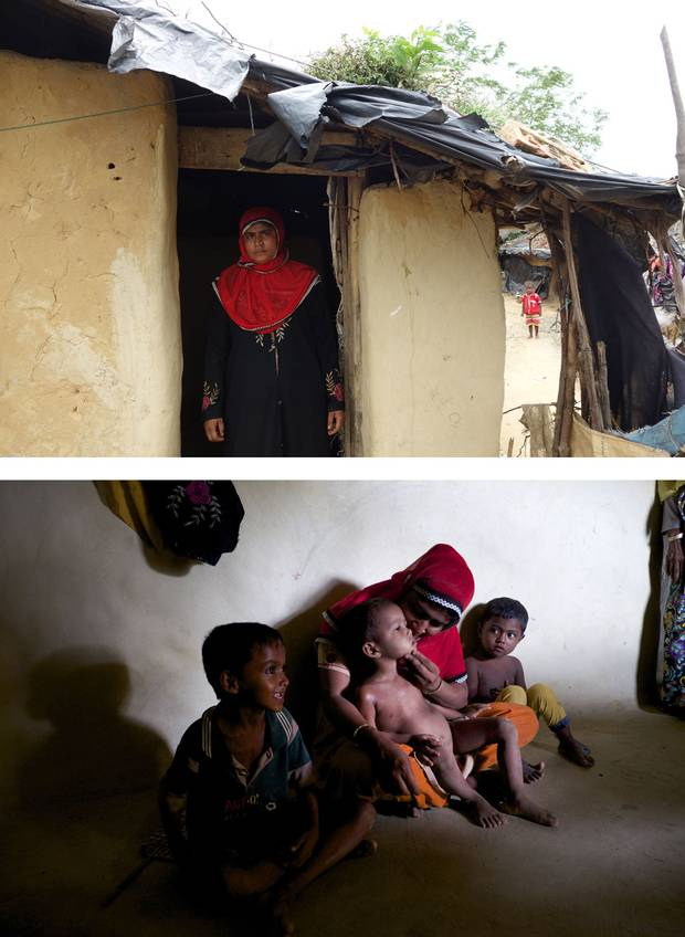 Rashida Begum's husband left three years ago, joining the tide of Rohingya leaving Bangladesh for better opportunities elsewhere. He has not returned, leaving Ms. Begum to feed her three children by harvesting wood. Sometimes, the family only has money to eat every other day.
