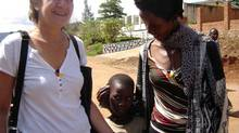 Anne Goodman, left, is in Rwanda in 2007 with Kwagala Susan and an unidentified child they met on the street. (CAROLYN WEBB)