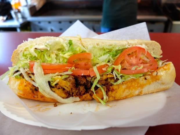 The #7 Roethlisburger, named after Steelers quarterback Ben Roethlisberger, from Peppi's Old Tyme Sandwich Shoppe.