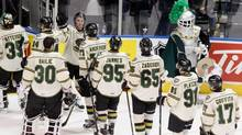 The London Knights won their 23rd consecutive game on Saturday defeating the Plymouth Whalers 4-2. (file photo) (Dave Chidley/THE CANADIAN PRESS)