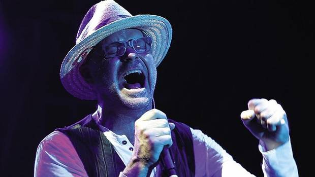 Tragically Hip singer Gord Downie in Bobcaygeon, Ont.