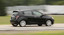 Chevrolet Sonic hatchback. (GM/General Motors)