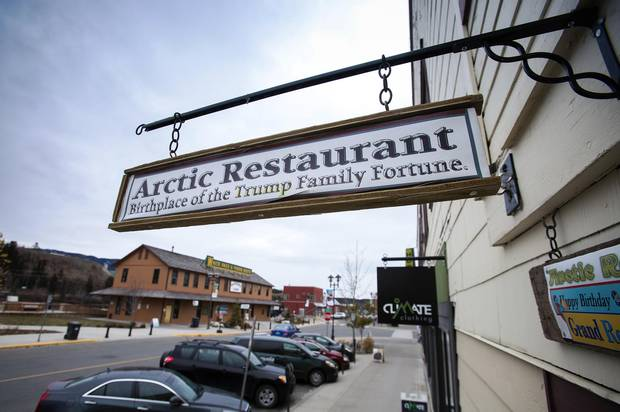 The Arctic Restaurant shop in Whitehorse, where Friedrich Trump is said to have made at least part of the initial fortune in the empire now controlled by the president-elect.
