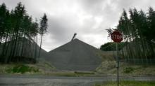 Polaris has a majority stake in the Orca Quarry, which produces sand and gravel, on the east coast of northern Vancouver Island. (LAURA LEYSHON/THE GLOBE AND MAIL)