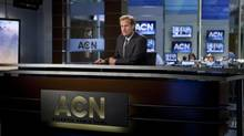 "Jeff Daniels is a loner who chooses moral duty over self-interest in The Newsroom. an honest man in a sea of liars who ""speaks truth to stupid,"" a leader inspired by a good woman (his executive producer, played by Emily Mortimer), to ""reclaim the fourth estate"" as an ""honorable profession"" that will ensure the once-and-future greatness of America THE NEWSROOM episode 3: Jeff Daniels. photo: Melissa Moseley (Melissa Moseley)"