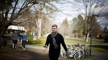 Matthew Wigmore, an openly gay student at Trinity Western University, is shown outside his dormitory in Langley, B.C., on Feb. 21, 2014. (RAFAL GERSZAK FOR THE GLOBE AND MAIL)