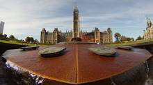 The Centennial Flame outside Parliament Hill. (Adrian Wyld/The Canadian Press)