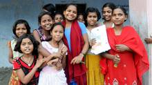 A group of students from the Prerna Residential School for Girls in Patna, Bihar. The school houses, feeds and educates more than 100 students. (Candace Feit For The Globe and Mail)