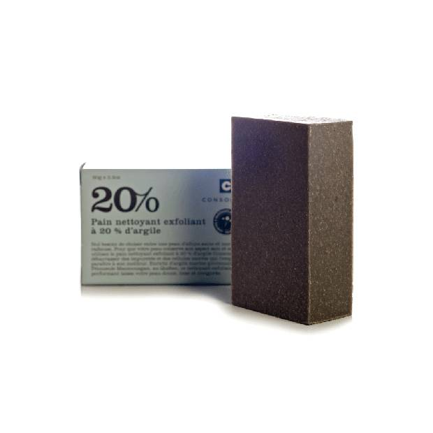 Consonant 20% Clay Exfoliating Cleansing Bar, $18 through www.consonantskincare.com.