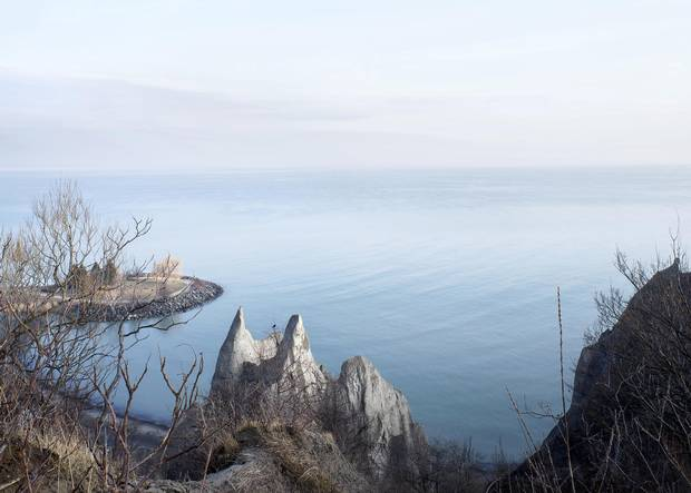 Scarborough Bluffs Park offers a majestic vista of Lake Ontario.