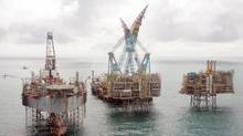 Nexen platforms in the North Sea