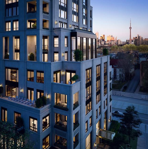 One Forest Hill, looking south to the CN Tower.